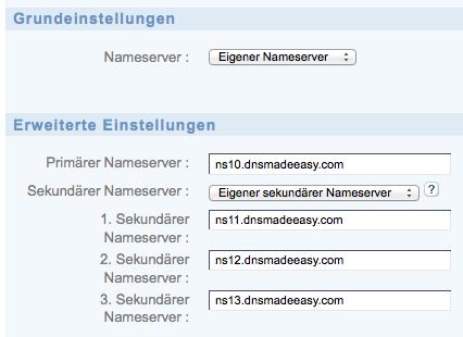 1&1 – DNS-Server-Konfiguration