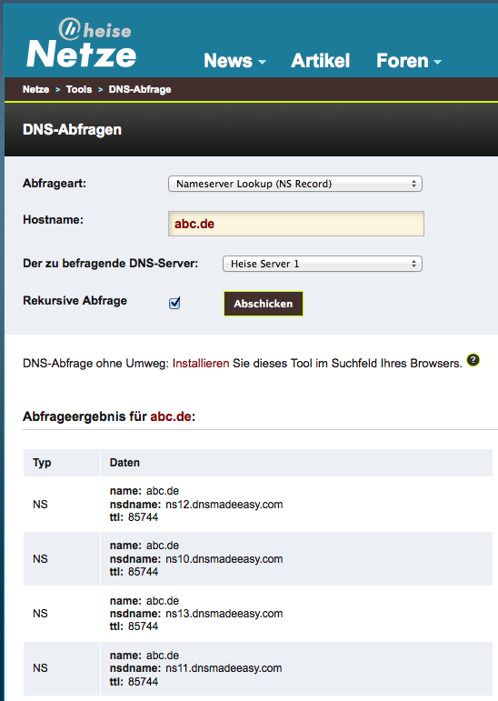 Heise-DNS-Test