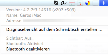 Bluetooth-Unsichtbarkeit Mavericks