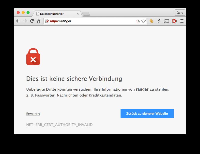 SSL-Fehler mit Chrome