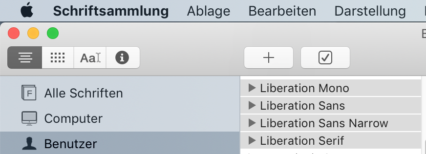 LibreOffice Fonts Mac Schriftsammlung