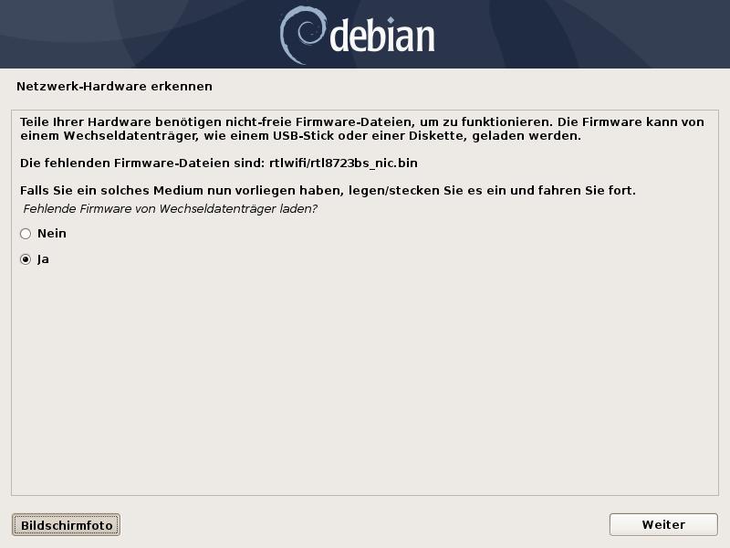 Debian 10 auf der Suche nach dem Realtek-WLAN-Treiber